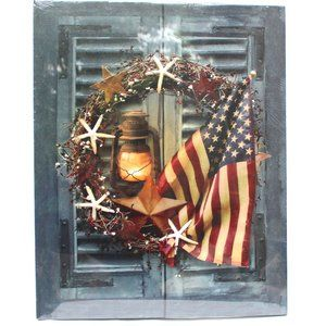 Other - Patriotic Americana Light Up Canvas 4th of July
